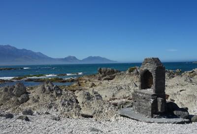 Kaikoura  New Zealand, remnant chimney.