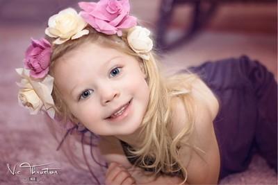 Beautiful portrait of little blonde Rory