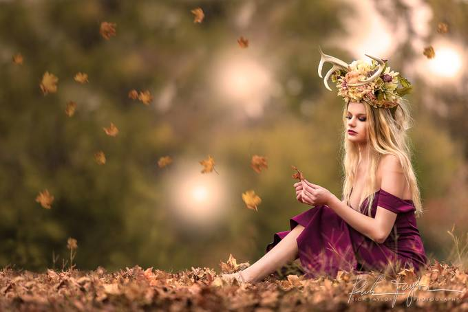 Girl in the woods by richtaylorphoto - Fantasy In Color Photo Contest