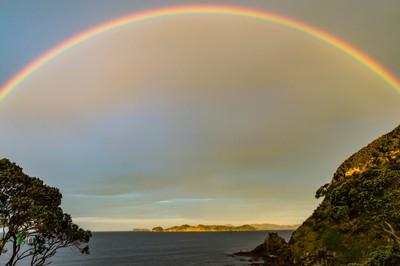 Rainbow over Tapeka Beach