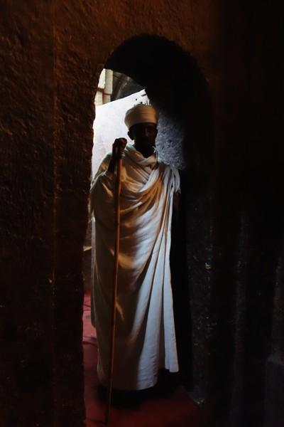 Priest in Lalibela Ethiopia.