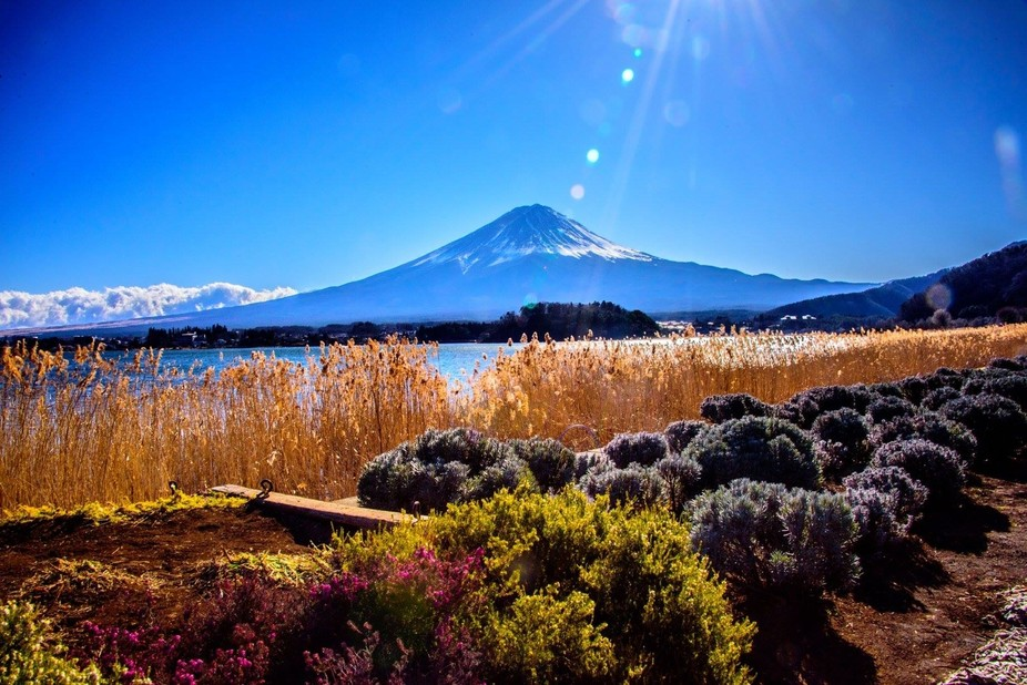 Gorgeous day visiting Mt Fuji in Japan