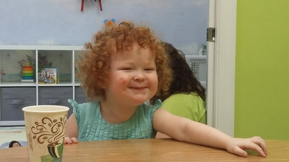 Another Sunday in our Church nursery. This little lady is normally very quiet and to herself. Thi...