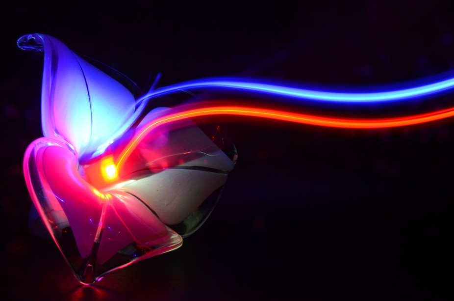 This photo was taken in my apartment by setting up a strip led light rolled into paper so I can d...