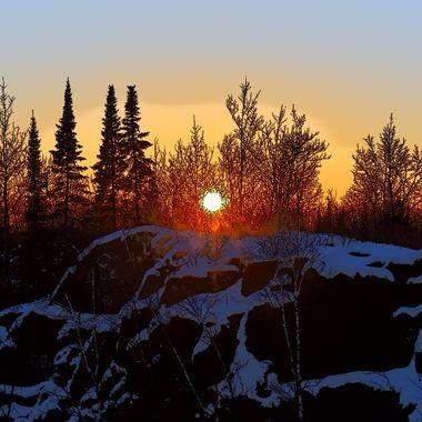 -20 some below F heavy snow & frost on trees Nikon D3400