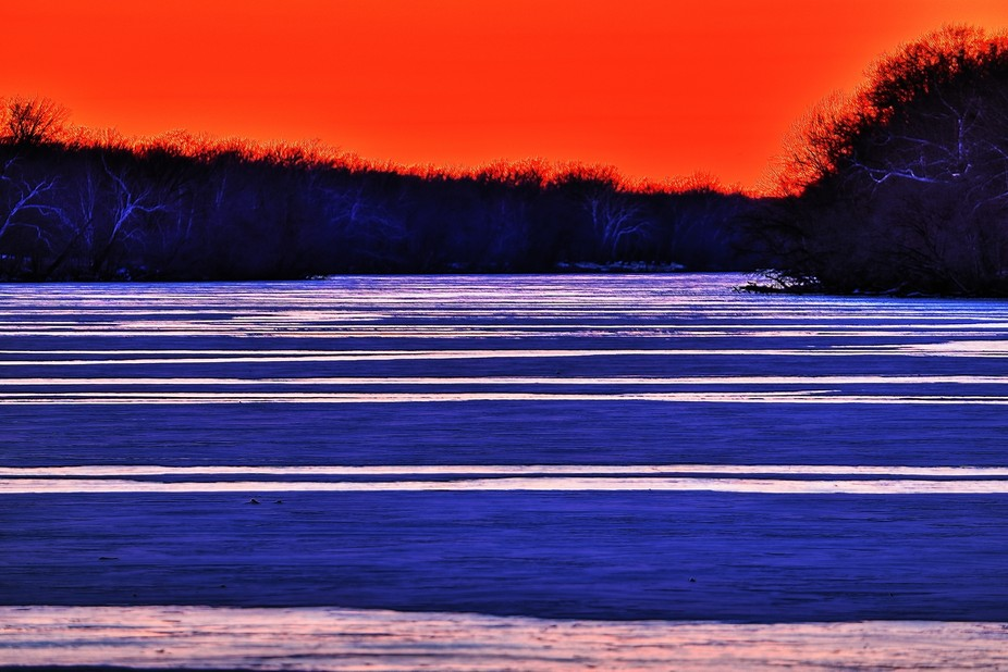 """The ice on the river looked awesome. All my photo-friends said I would never """"need&q..."""
