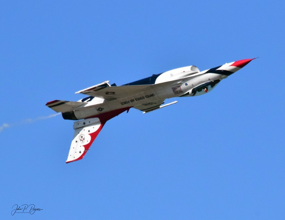 Thunderbird # 5 at Westfield, MA 2017 Air Show