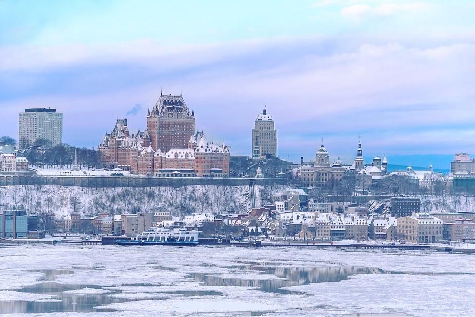 Frozen Quebec city
