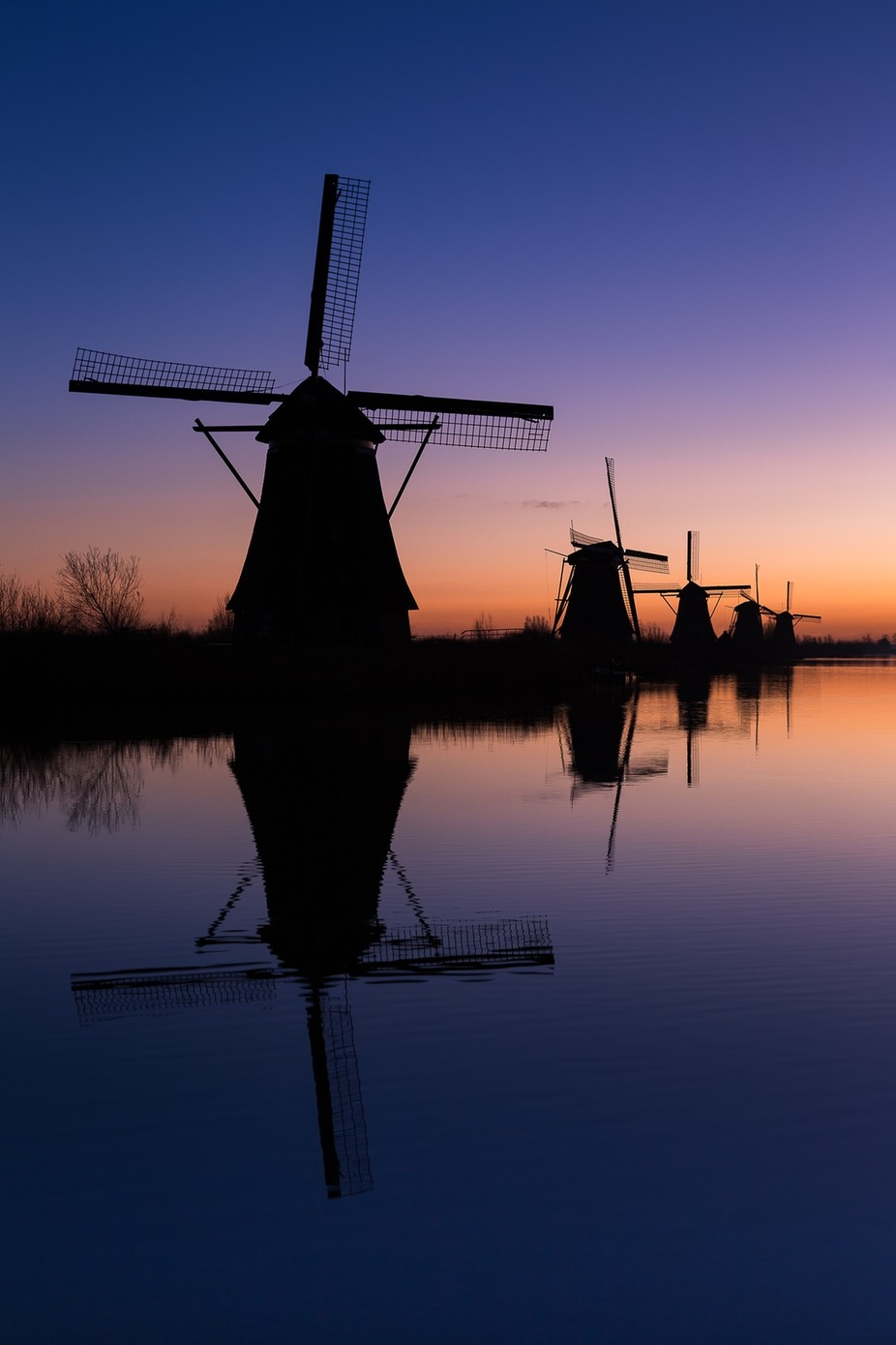 Kinderdijk before sunrise by JeroenSchouten - Windmills Photo Contest