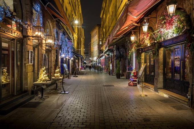 Mercière Street at Christmas in Lyon by FredericMONIN - Holiday Lights Photo Contest 2017