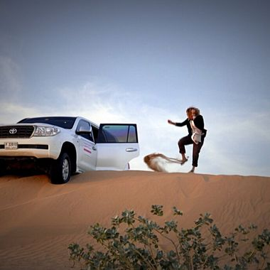 Dubai desert safari....stalled!