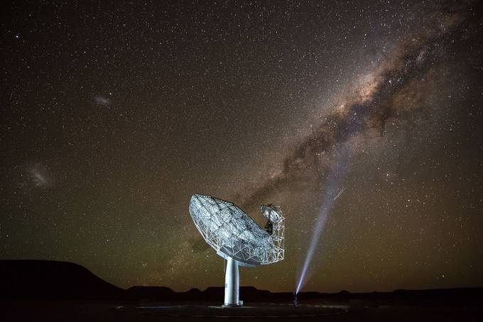 SKA radio telescope photograph in the Northern Cape.  by sarelvanstaden - Capture The Milky Way Photo Contest