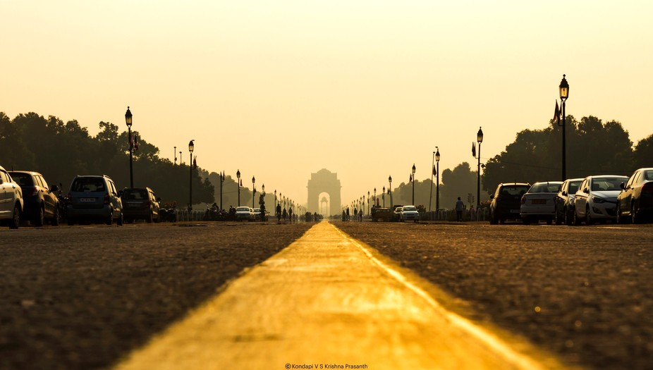 India Gate from Jan Path