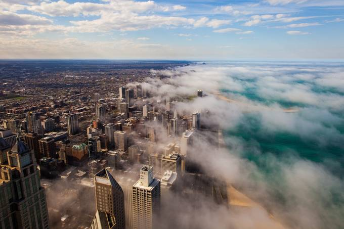 Weather in Chicago by PJPhotoArts - Fog And City Photo Contest