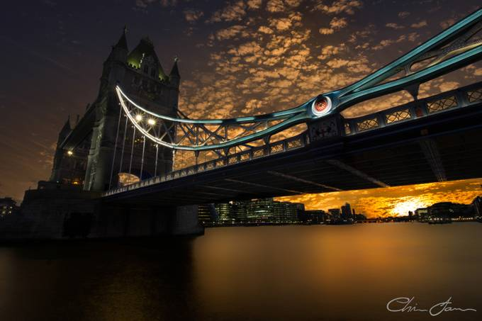 Sunset Troll at Tower Bridge by Chris_James - Composition And Leading Lines Photo Contest