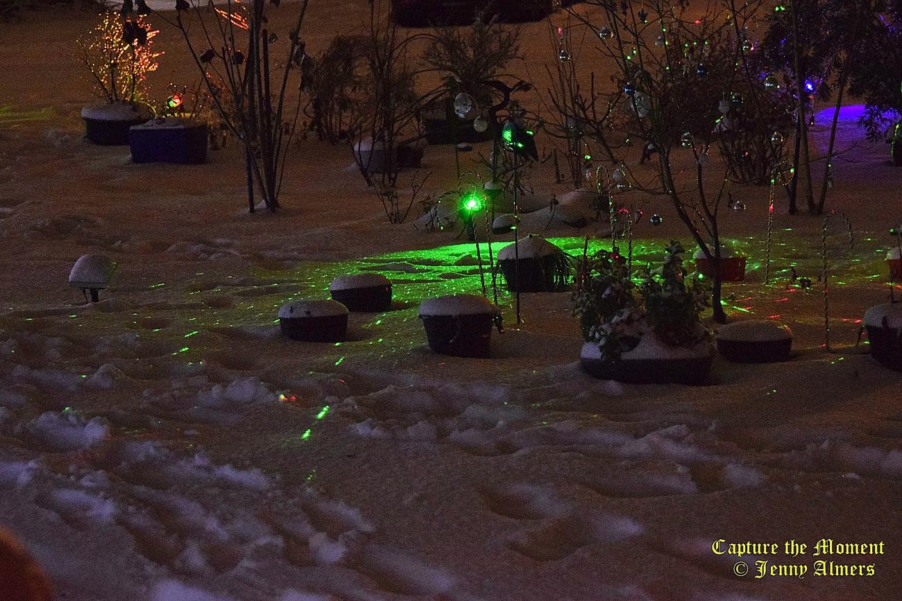 Christmas Lights on the Snow