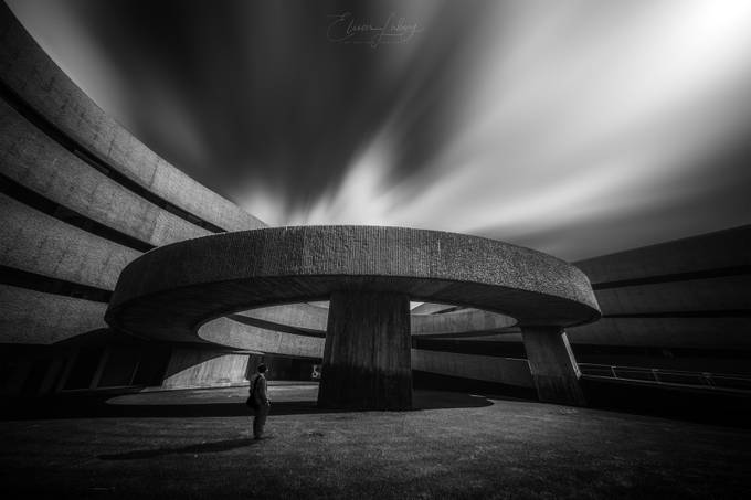Faculty of Fine Arts of the University of La Laguna by EliecerLabory - Black And White Compositions Photo Contest vol2