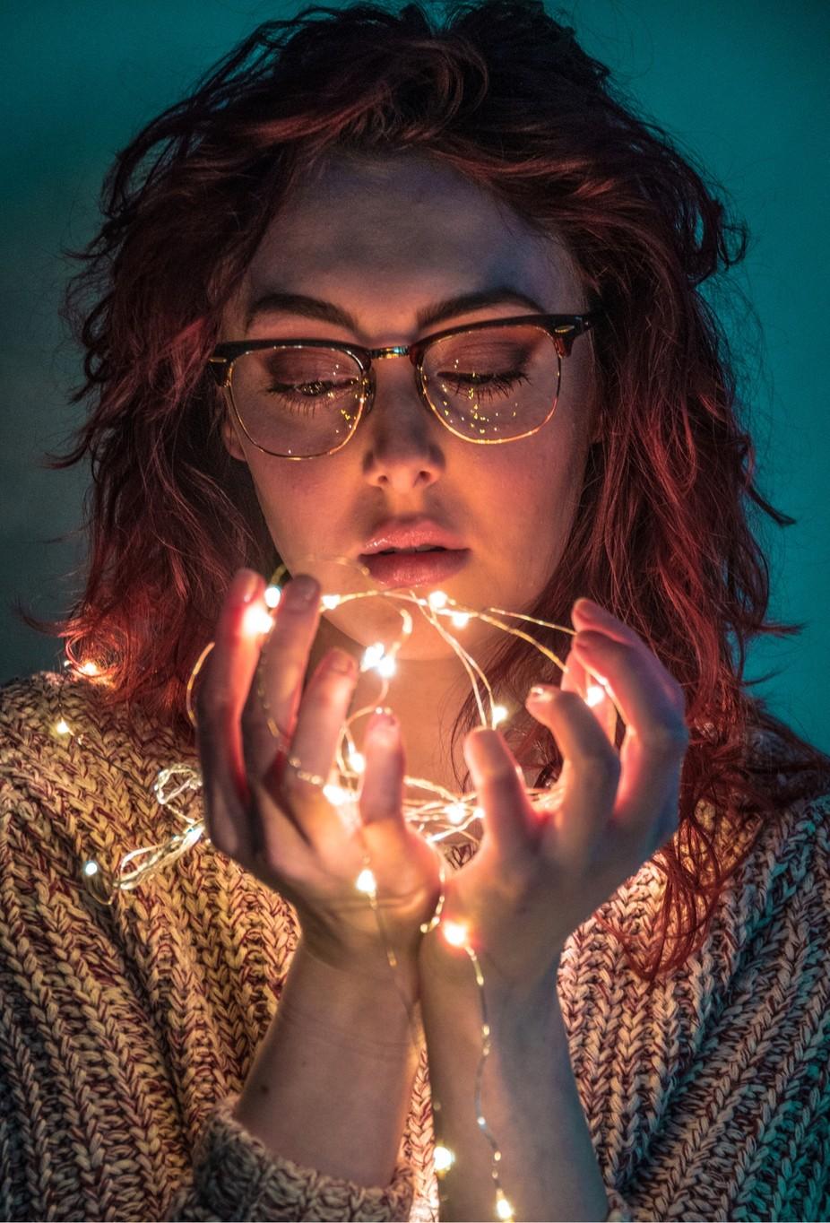 Fairylight Portrait by JonniePetherbridge - Holiday Lights Photo Contest 2017