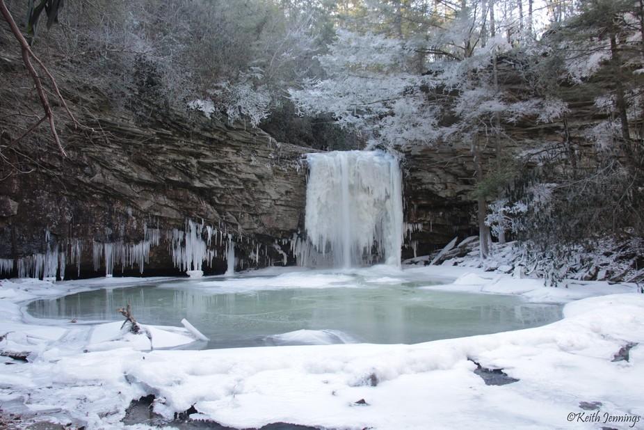 Frozen Little Stoney Falls