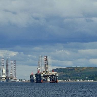Parked up in The Cromarty Firth.