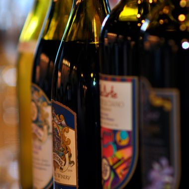 A variety of wines from Belle Fiore Estates, Ashland Oregon.