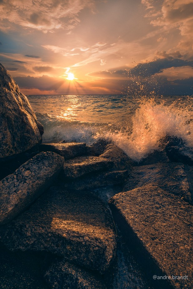 Sunset Wave  by AndreLJBrandt - Capture The Four Elements Photo Contest
