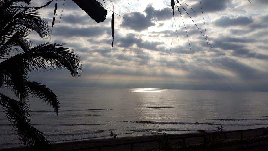 Amanecer en playa Casitas, Veracruz, México