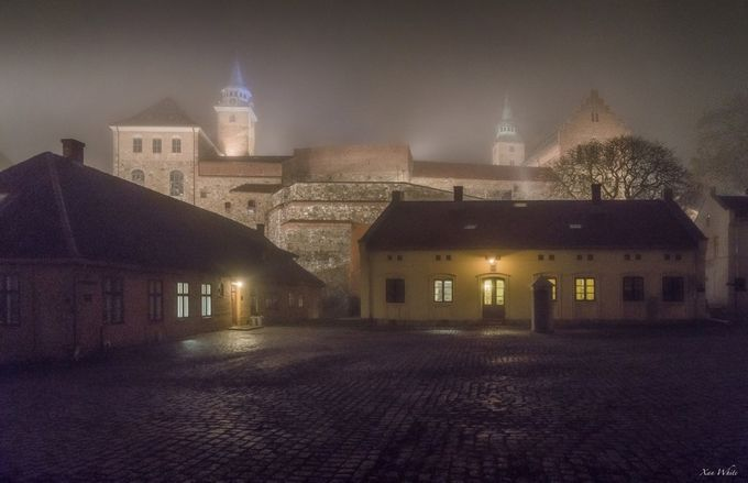 Courtyard by xanwhite - Fog And City Photo Contest