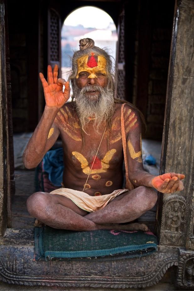 Yogi in Kathmandu by scottfinneran - Monthly Pro Vol 38 Photo Contest