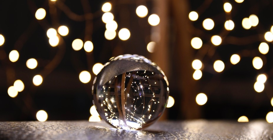 View through a glass ball