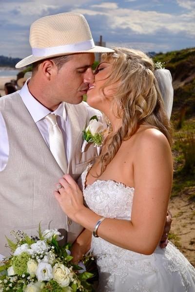 Saucy white wedding
