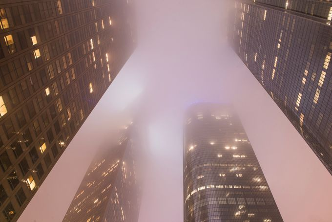 Downtown Los Angeles by intheloupe - Fog And City Photo Contest