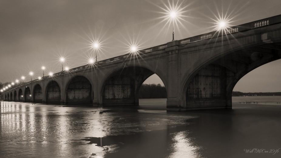 Early morning insomnia project capturing local bridge as the ice started to melt.