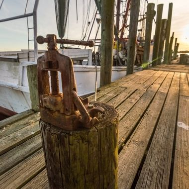 The Captain Phillips Shrimping boat docked at its home after a long day of work.