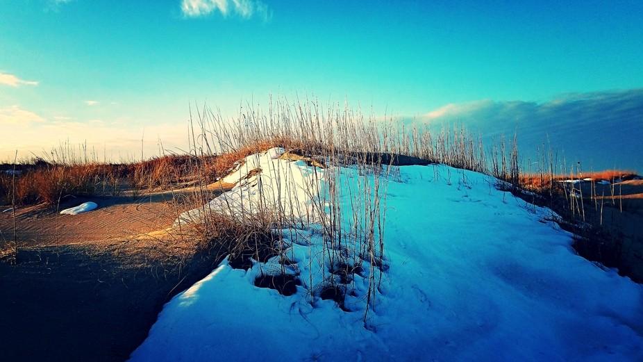 Snowy Sand Dunes