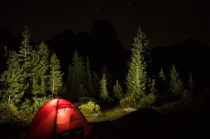 Nighttime in the Cirque of Towers by mcasella - Outdoor Camping Photo Contest