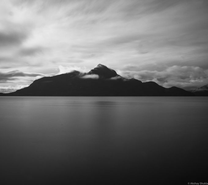 Took this long exposure of Anvil Island just before the weather rolled in.
