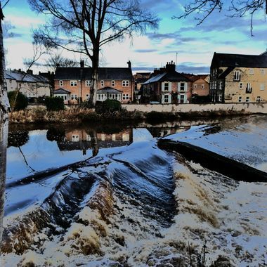 The River Wansbeck in January viewed from Carlisle Park in Morpeth