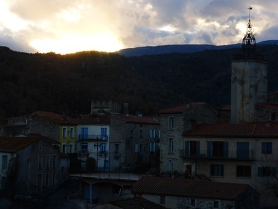 sun set on the old village P1250727