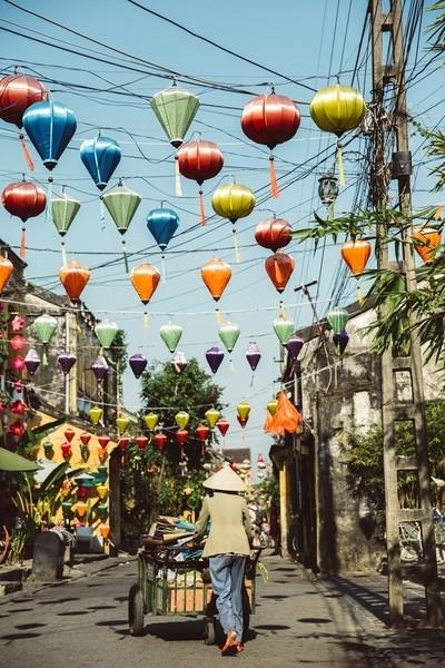 STREET IN HOI AN, VIETNAM
