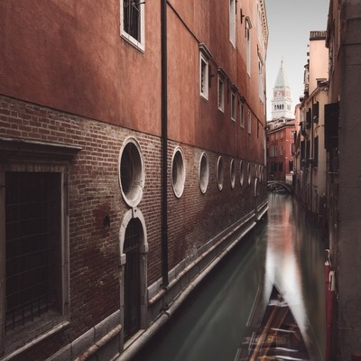 view of canal passing through Venice