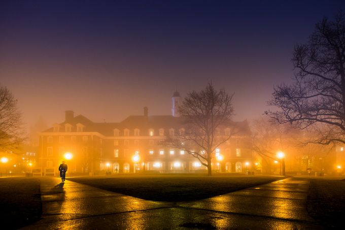 The Illini Union. A foggy evening at the University of Illinois, Urbana-Champaign by setuchakrabarty - Fog And City Photo Contest