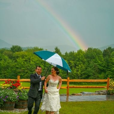 Shooting a wedding in the Black Mountains of New Hampshire, a sudden rain, and this!