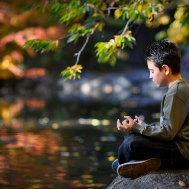 Aidan Meditates in Lithia Park