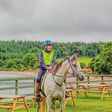 I took this photo when we were visiting Scotland in the year 2015. We were driving round the Loch Ness and we stopped at a wonderful place called Dores Inn. This woman came on horse back to the inn and I asked if I could take some photos of her and her horse. This was one of the photos I took that day.