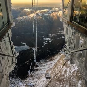 This is a picture of the new Cable Car Zugspitze . In 10min down from top to bottom after a great ski day :)
