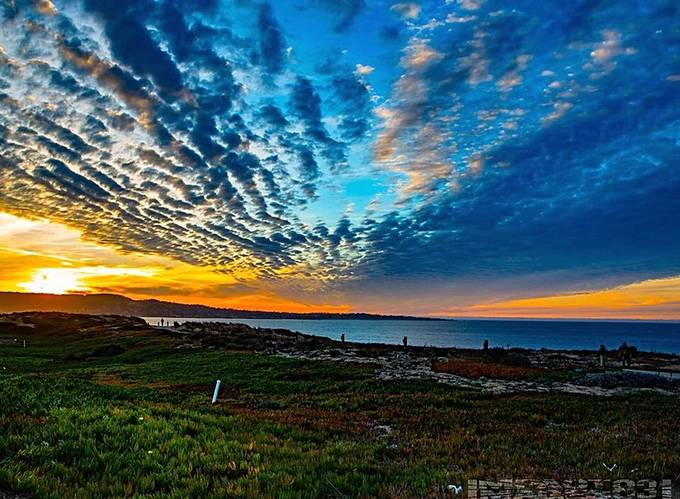 Majestic winter skies over Monterey Bay, CA...