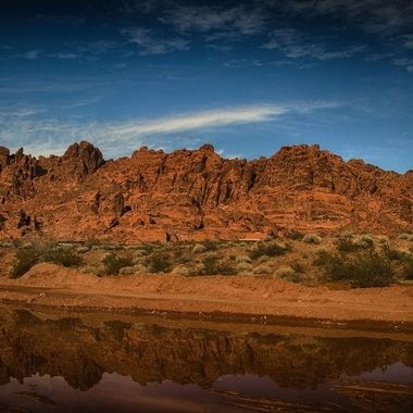 Reflection at Valley of Fire.