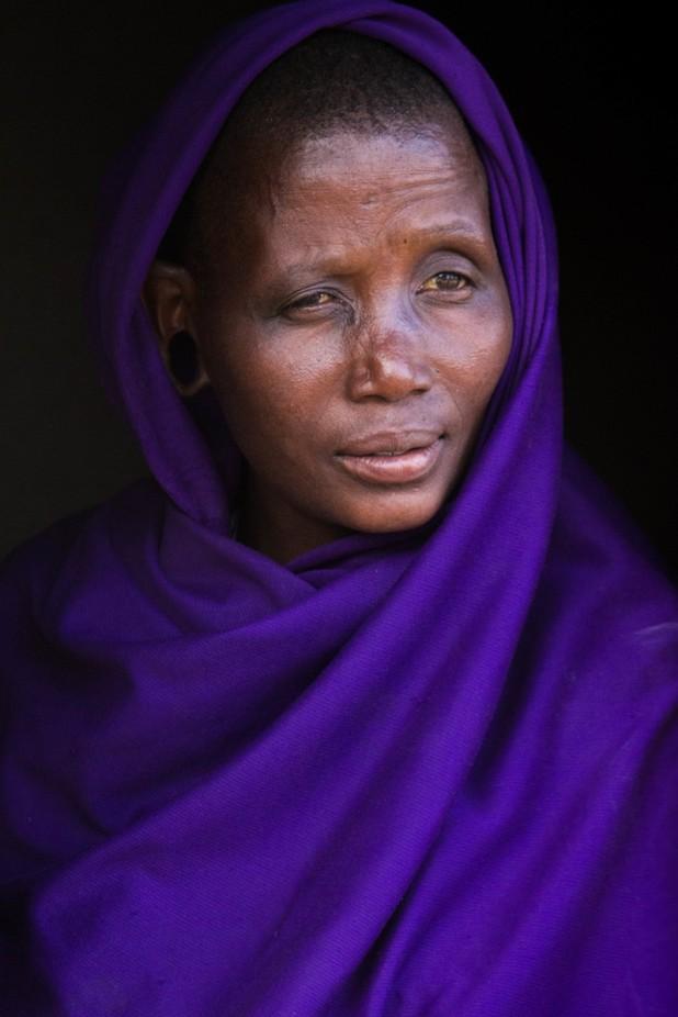 Maasai woman by wildpainter - Shades Of Purple Project