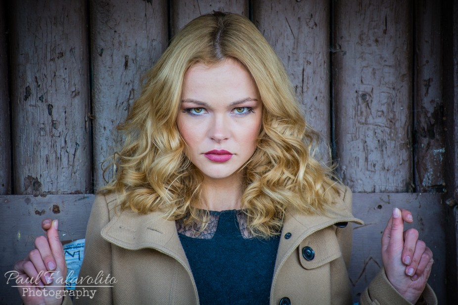 This model is from Russia and has that classic European model look to her.